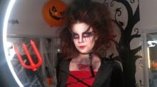 МК создание образа Дьяволицы для Хеллуина